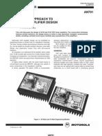 An-791 a Simplified Approach to VHF Power Amplifier Design