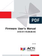 A1D-311-V5.08.06 Firmware User Manual