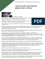 Técnicas de leitura - skimming e scanning