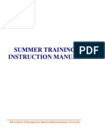 Summer Training Instruction Manual Sent by TPO on July 2,2012