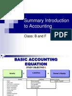 Summary Intro to Accounting