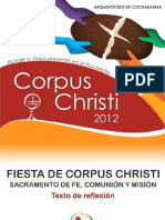 Reflexión de Corpus Christi 2012