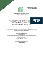 12.Islamic Microfinance Framework and Strategies