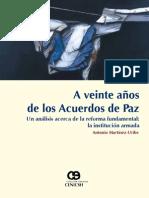 A Veinte Anos de Los Acuerdos de Paz Antonio Martinez Uribe