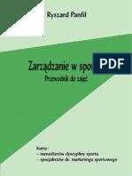 Ryszard Panfil - Zarzadzanie w Sporcie