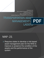 S5_DOTD Asset Management Policy, Steering Committee, & Initiatives_LTC2013