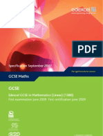 GCSE in Mathematics Linear