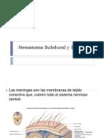 Hematoma Subdural y Epidural