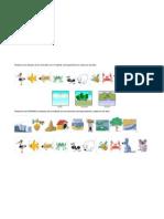 Relacione Los Dibujos de Los Animales Con El Habitat Correspondiente a Cada Uno de Ellos