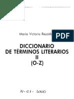 Reyzabal Victoria - Diccionario de Terminos Literarios Tomo 2 (o - Z)