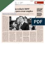 UE  aconseja reducir IRPF y cotizaciones