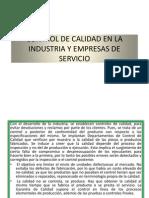 Control de Calidad en La Industria y Empresas