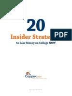 20insiderstrategiescappex 20insiderstrategiescappex