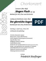 Programm Städt. Musikverein Bottrop
