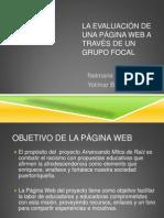 LA EVALUACIÓN DE UNA PÁGINA WEB A TRAVÉS DE UN GRUPO FOCAL
