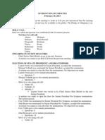Student Senate Minutes - Part 2, Feb. 26, 2013
