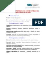 TERMINOLOGIA SOBRE SISTEMAS DE GESTIÓN DE CALIDAD