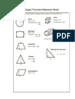 polygon formulas reference sheet