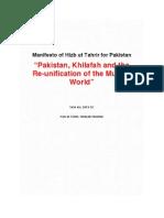 Hizb ut Tahrir Pakistan - Manifesto for change