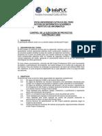 Control de Ejecucion de Proyectos Pucp Conpryect2003