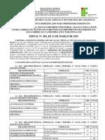 EDITAL 001-2013 DE 11 DE MARÇO DE 2013
