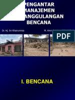 1.Pengantar Manajemen Penanggulangan Bencana