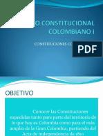 DIAPOSITIVAS CONSTITUCIONES COLOMBIANAS