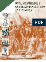 Rebeliones Alzamientos y Movimientos Preindependentistas en Venezuela