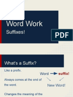Word Work- Latin Suffixes