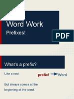 Word Work- Latin Prefixes