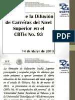Difusion Carreras en Cbtis93