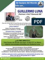 Chile, Escuela de Equipos Del Mundo Con Guillermo Luna, 5 y 6 de Abril