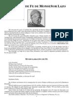 Salvador Lazo - Profesion de Fe