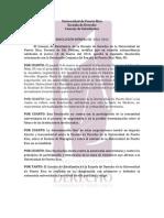 Resolución del CEED sobre Resolución Conjunta del Senado de PR Núm. 85