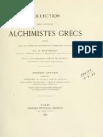 Berthelot, M. 'Alchimistes Grecs I' París 1887