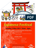 Japanese Festival Frankston South 2013 Poster