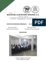 Boletín Rotario del 19 de marzo de 2013