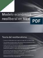 Modelo económico neoliberal en México