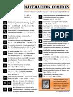 Infografia Simbolos Matematicos Comunes