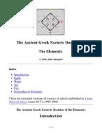 Greek Esoteric Doctrine of Elements