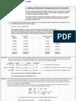 Cálculos Estequiométricos_Balanço Material_Combustão