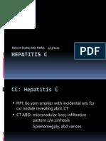 Hepatitis C 3.15.13 Case Conference