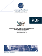 CT State Teachers' Retirement System Retiree Health Insurance Plan Actuarial Valuation June 30, 2012
