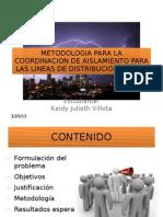 Metodologia Para La Coordinacion de Aislamiento Para Las Lineas de Distrbucion