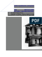 Matta Clarck-Anarquitectura y Deconstrucion