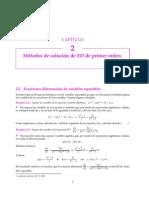 2.2 Ecuaciones Diferenciales de Variables Separables
