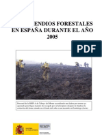 Incendio s Forest a Les 2005