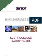 ISO 22000 Module de Soutien n 4 Les Processus Externalises