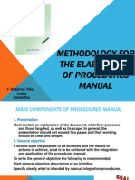 Methodology for the Elaboration of Procedures Manual