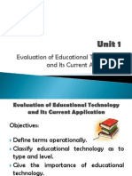 Evaluation of Educational Technologies and its Current Approaches